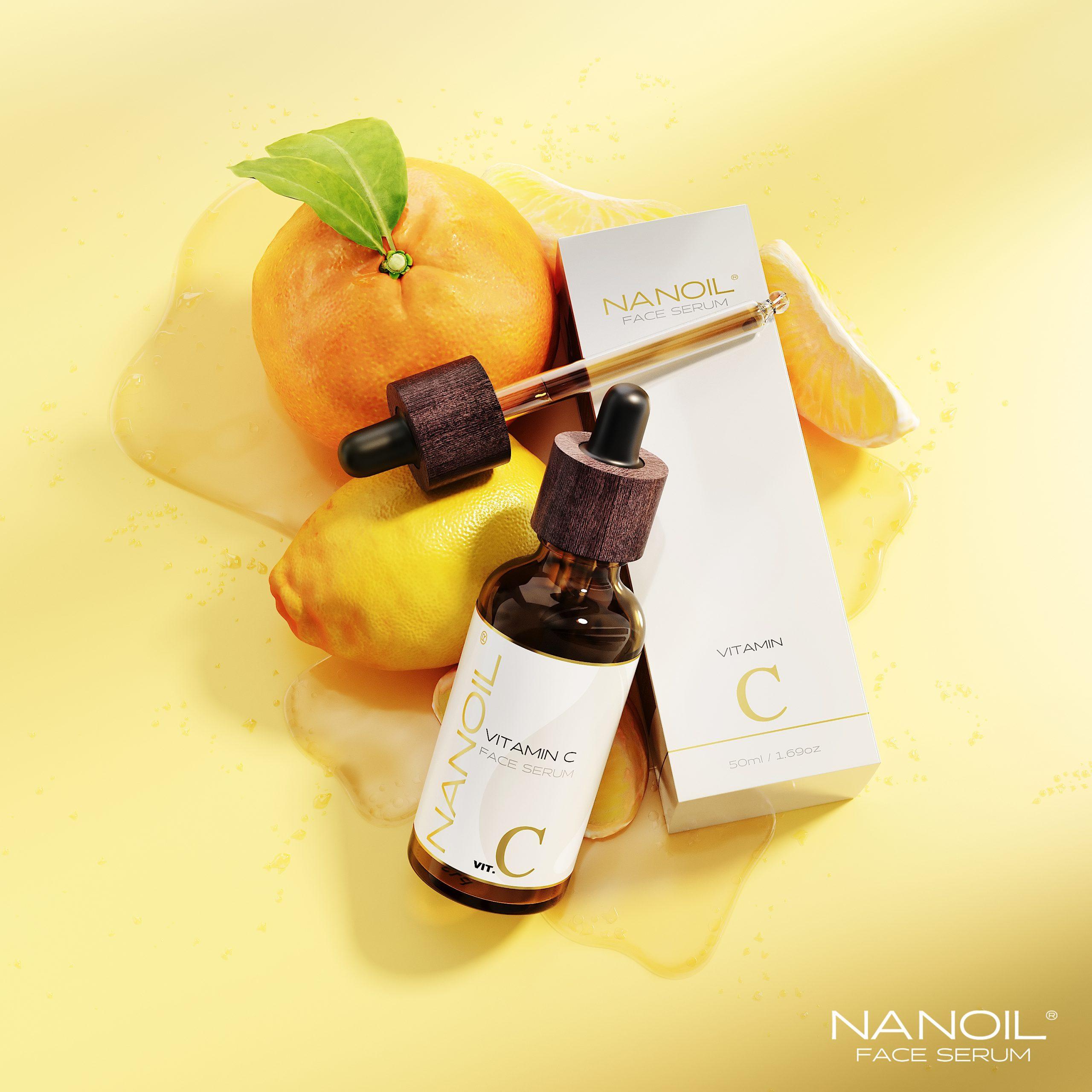 najlepsze serum do twarzy z witaminą c Nanoil